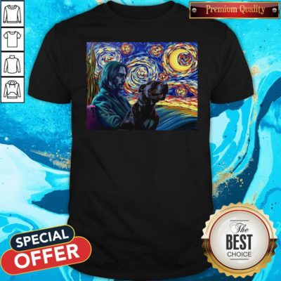 Official John Wick With Dog Art Shirt - Design By Earstees.com