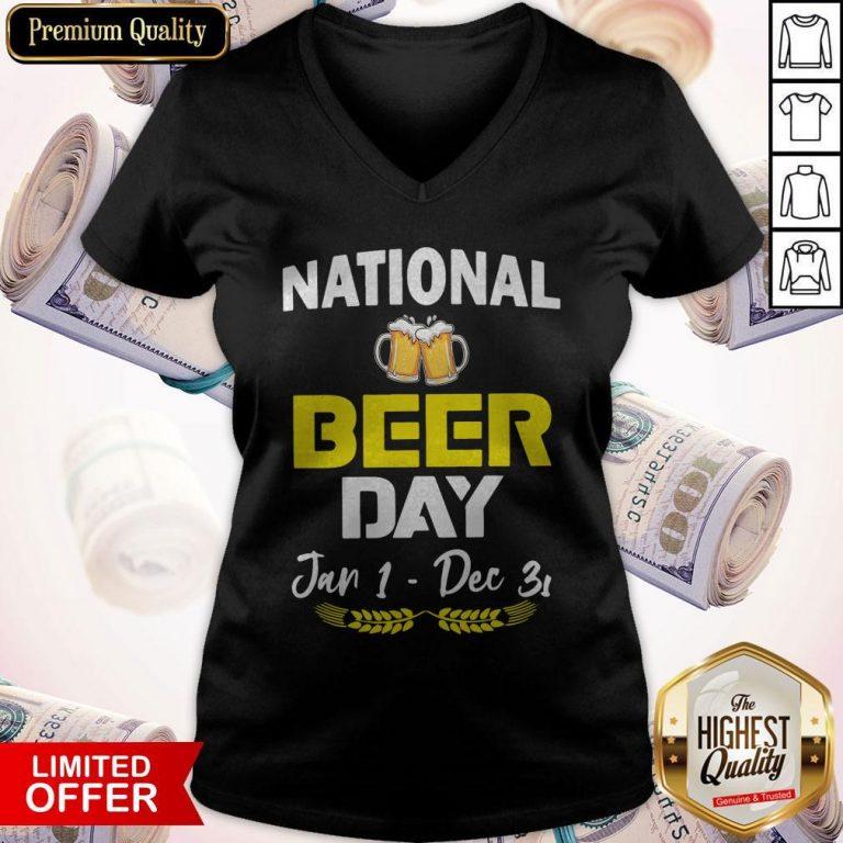 Official National Beer Day Jan 1 – Dec 31 V-neck