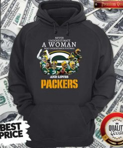 Official Never Underestimate A Woman Who Understands Baseball And Loves Packers Hoodie