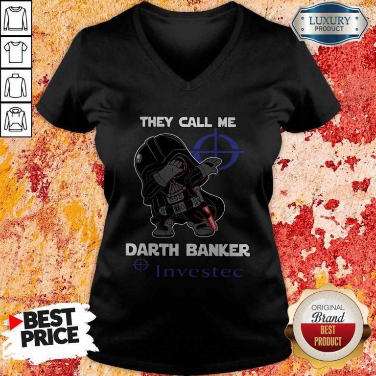 Official Star War Darth Vader They Call Me Darth Banker Investec V-neck