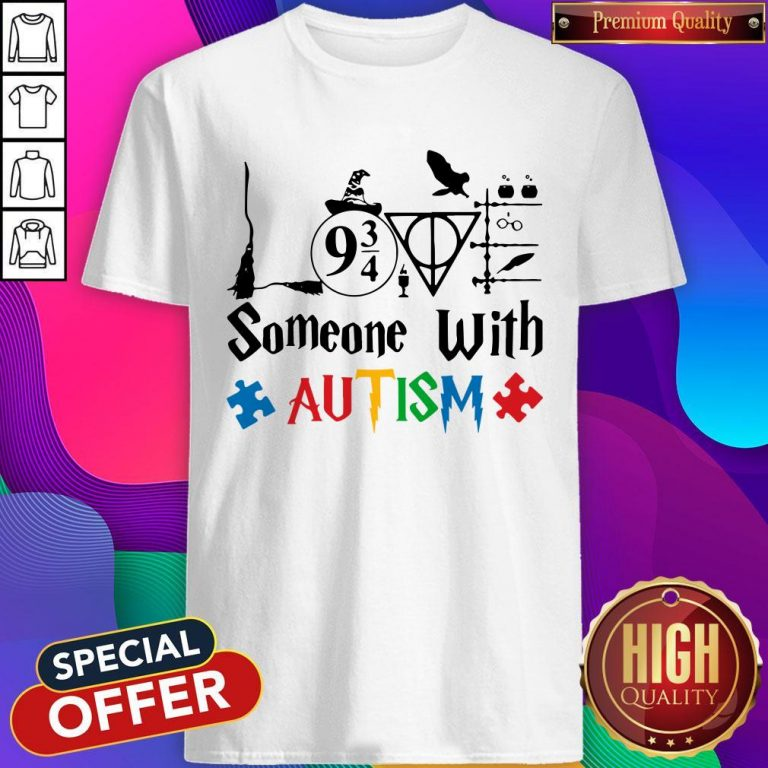 Original Love Someone With Autism Harry Potter Shirt