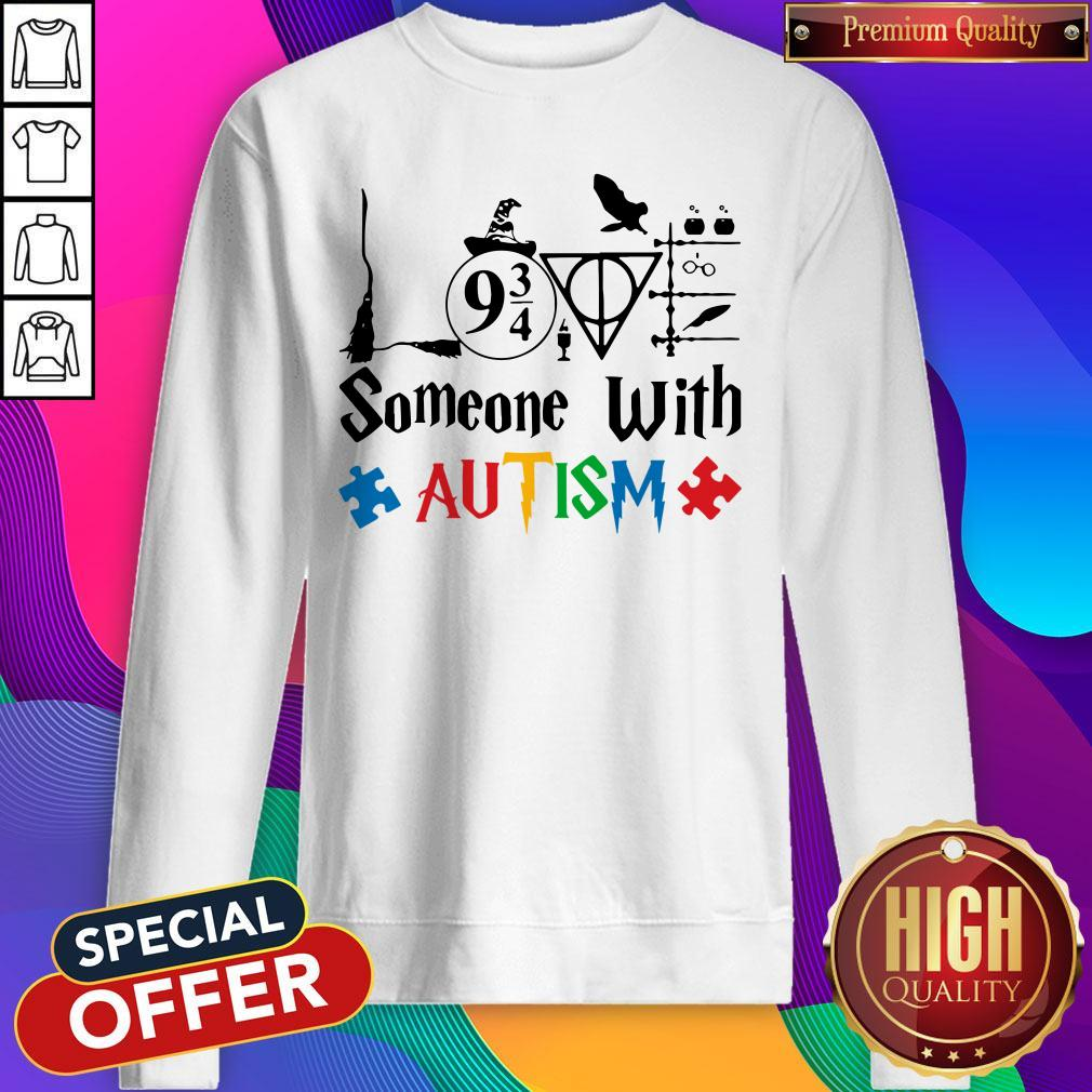 Original Love Someone With Autism Harry Potter Sweatshirt