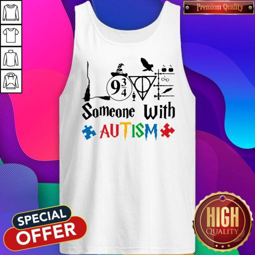Original Love Someone With Autism Harry Potter Tank Top