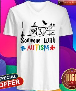 Original Love Someone With Autism Harry Potter V-neck
