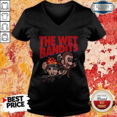 Original The Wet Bandits Home Alone Super Mario Funny Massup V-neck