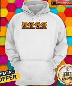Perfect 86-45 Make America Think Again White Hoodie
