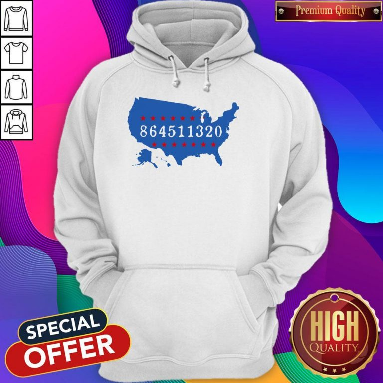 Perfect 864511320 United States Map Hoodie