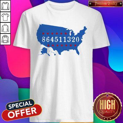 Perfect 864511320 United States Map Shirt