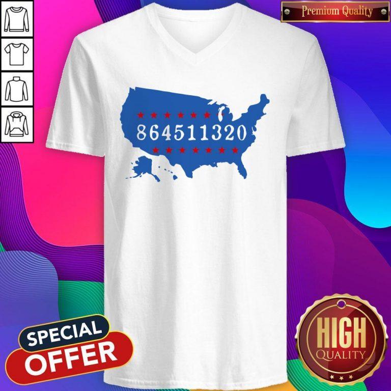 Perfect 864511320 United States Map V-neck