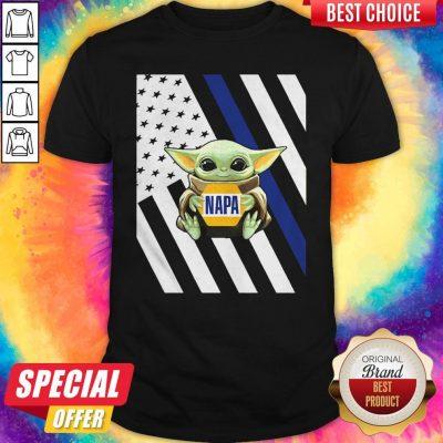 Perfect American Flag Baby Yoda Hug Napa Shirt