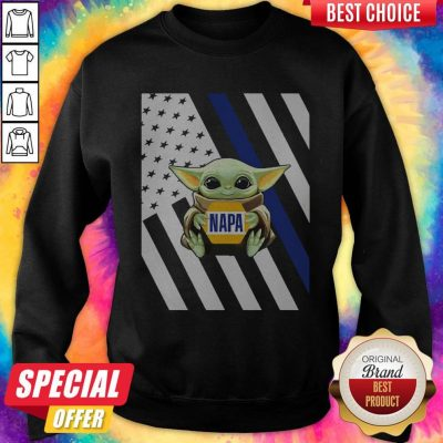 Perfect American Flag Baby Yoda Hug Napa Sweatshirt