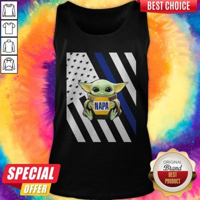 Perfect American Flag Baby Yoda Hug Napa Tank Top