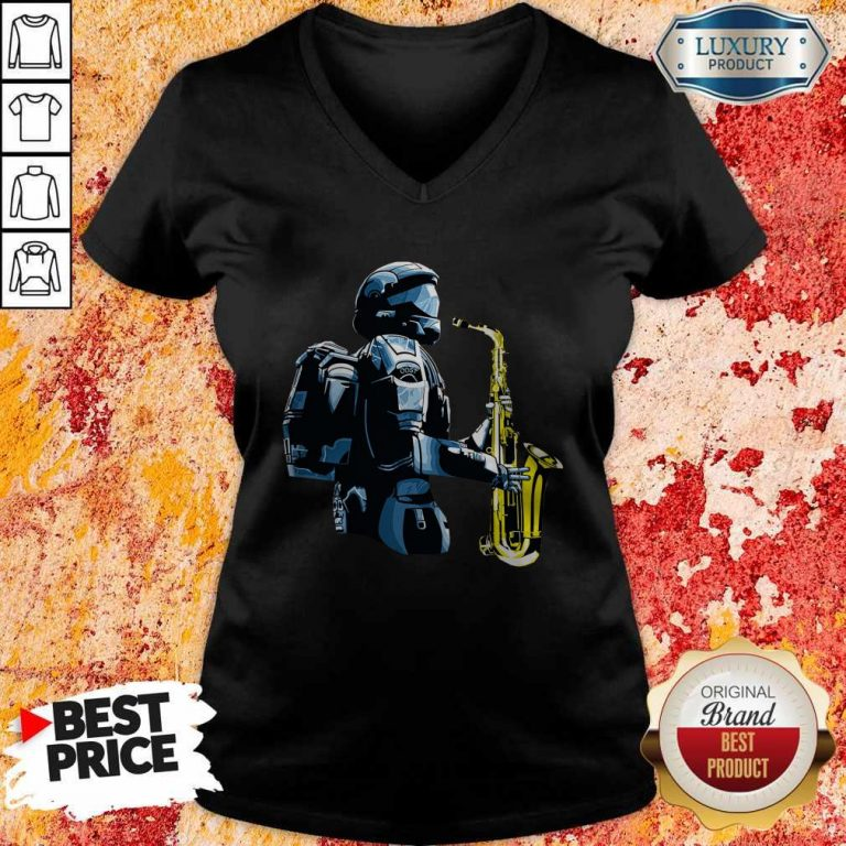 Perfect Halo 3 Odst Saxophone V-neck