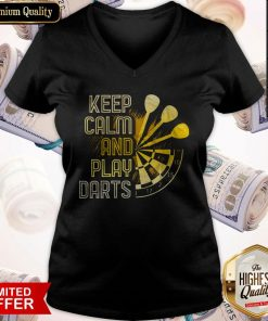 Perfect Keep Calm And Play Darts V-neck