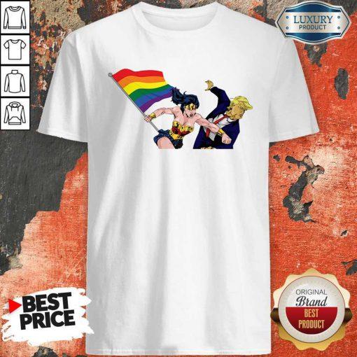 Perfect LGBT Wonder Woman Punch Trump Shirt