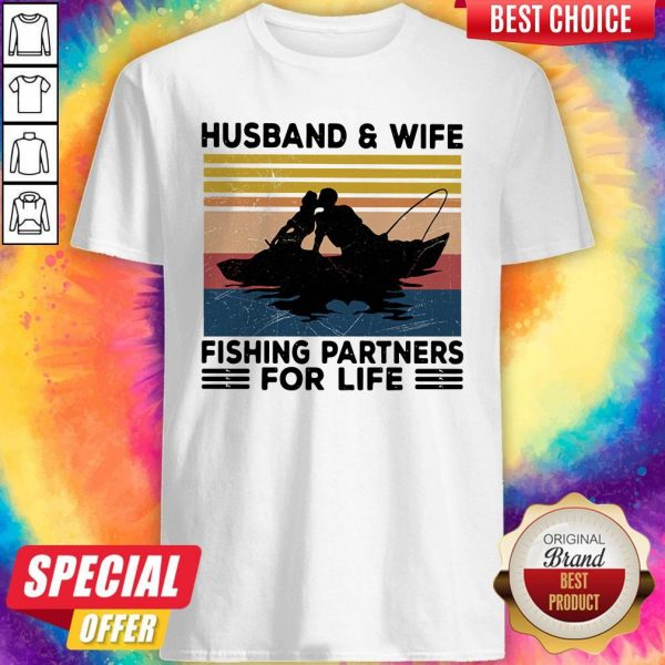 Premium Husband And Wife Fishing Partners For Life Vintage Shirt