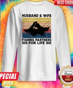 Premium Husband And Wife Fishing Partners For Life Vintage Sweatshirt