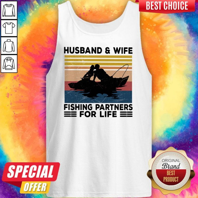 Premium Husband And Wife Fishing Partners For Life Vintage Tank Top