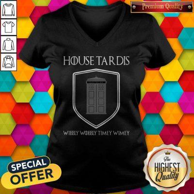 Premium Nice House Tardis Wibbly Wobbly Timey Wimey Got V-neck