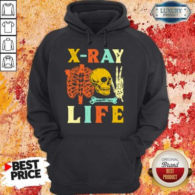 Premium Skeleton X-ray Life Vintage Hoodie