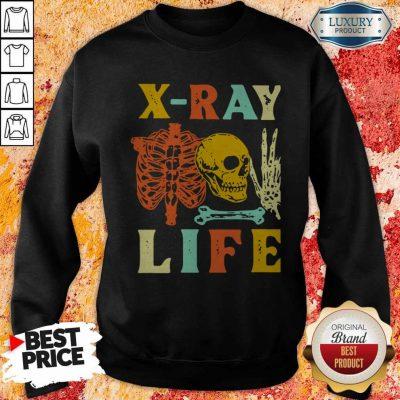 Premium Skeleton X-ray Life Vintage Sweatshirt