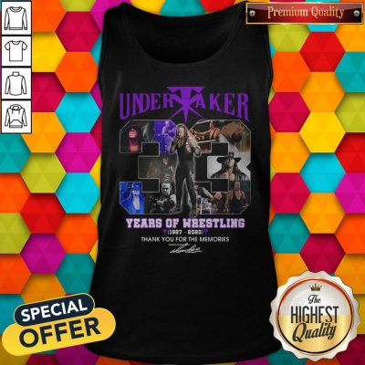 Premium Undertaker 33 Years Of Wrestling 1987-2020 Thank You For The Memories Signature Tank Top