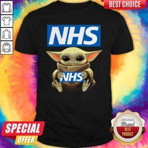 Pretty Baby Yoda Hug NHS Shirt