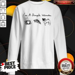 Pretty I'm A Simple Woman Tea Pizza Pug Sweatshirt