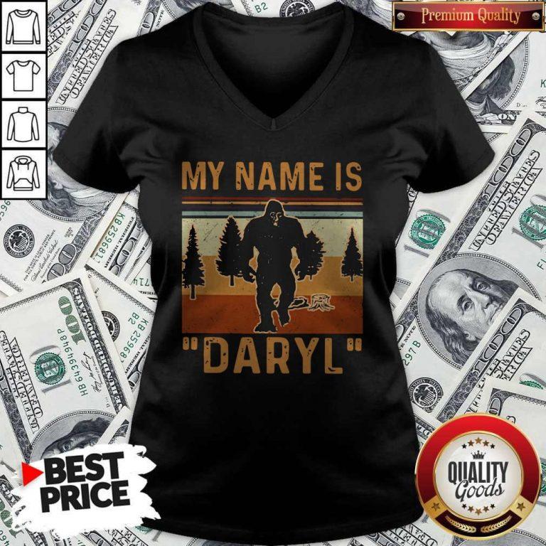 Pretty My Name Is Daryl Vintage V-neck