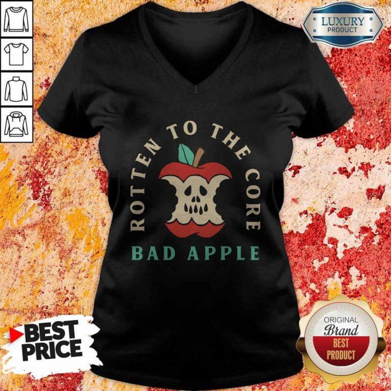 Pretty Rotten To The Core Bad Apple V-neck