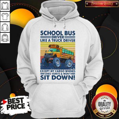 Pretty School Bus Driver Like A Truck Driver Sit Down Vintage Hoodie