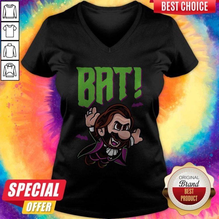 Top Dracula Bat V-neck