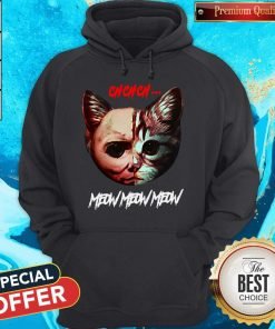Top Jason Voorhees Cat Ch Ch Ch Meow Meow Meow Hoodie