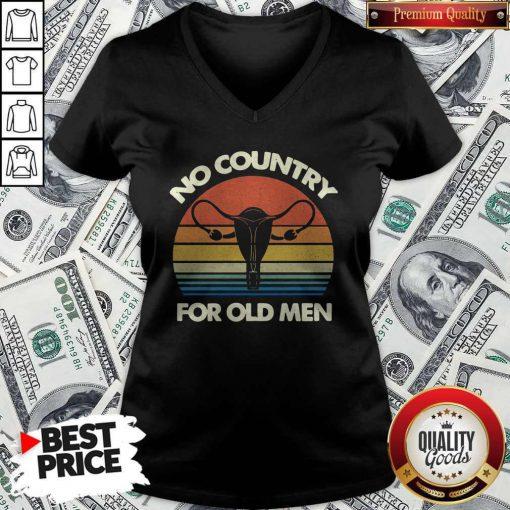 Top No Country For Old Men Vintage V-neck