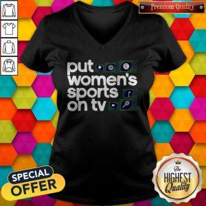 Top Put Women's Sports On TV 2020 V-neck