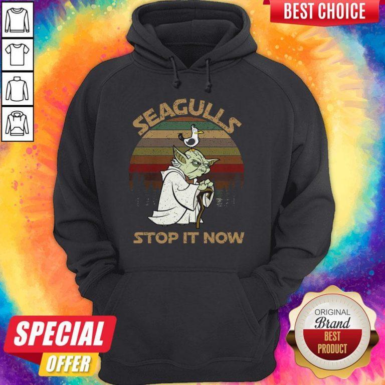 Top Yoda Seagulls Stop It Now Vintage Hoodie