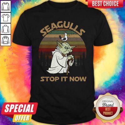 Top Yoda Seagulls Stop It Now Vintage Shirt
