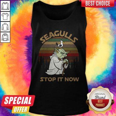 Top Yoda Seagulls Stop It Now Vintage Tank Top