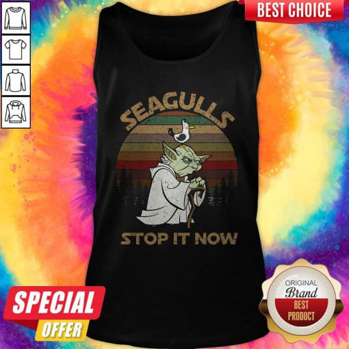 Top Yoda Seagulls Stop It Now Vintage Tank Top