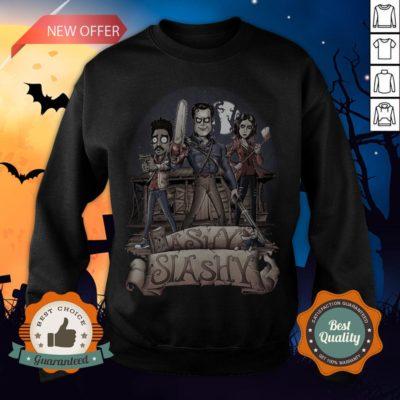 Ashy Siashy Wood House Lady And Man Moonlight Halloween Sweatshirt - Design By Earstees.com