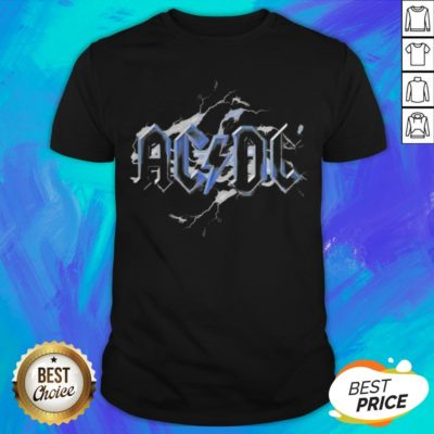 Perfect ACDC Band Lightning Bolt Back Shirt - Design By Earstees.com