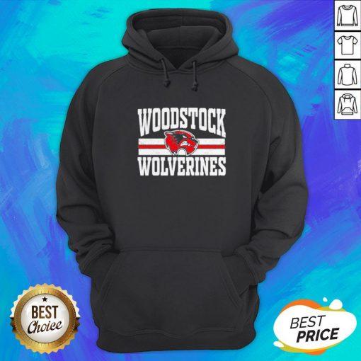 Top Woodstock High School Wolverines Logo Hoodie - Design By Earstees.com