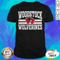 Top Woodstock High School Wolverines Logo Shirt - Design By Earstees.com