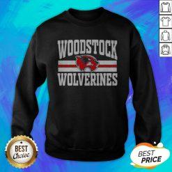 Top Woodstock High School Wolverines Logo Sweatshirt - Design By Earstees.com