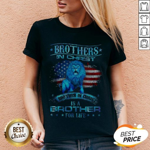Brothers In Christ Brother In Christ Is A Brother For Life V-neck