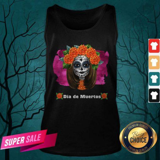 Day Of Dead Dia De Muertos Sugar Skull Girl Tank Top