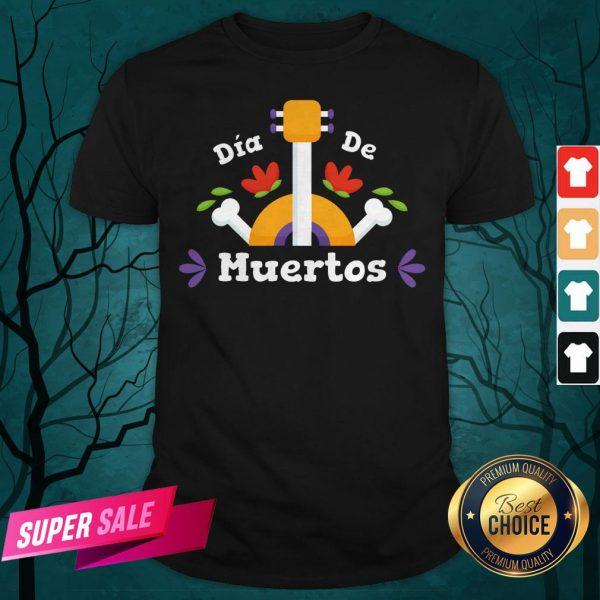 Dia De Los Guitar Mexican Holiday Shirt