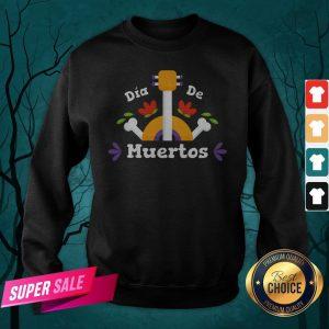 Dia De Los Guitar Mexican Holiday Sweatshirt