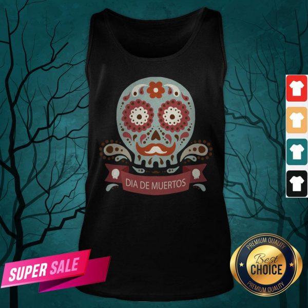 Dia De Los Muertos Day Dead Sugar Skull Tank Top