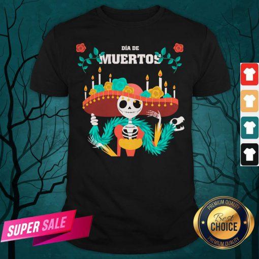 Dia De Muertos Day Dead Skeleton In Mexican Shirt